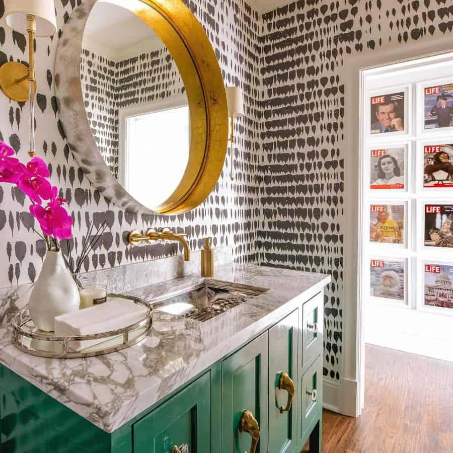 Wallpaper Powder Room Ideas Costachristmedia