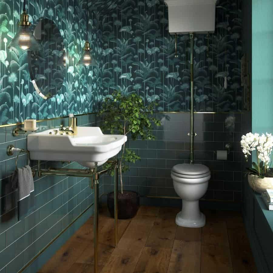 Wallpaper Powder Room Ideas Heritagebathrooms