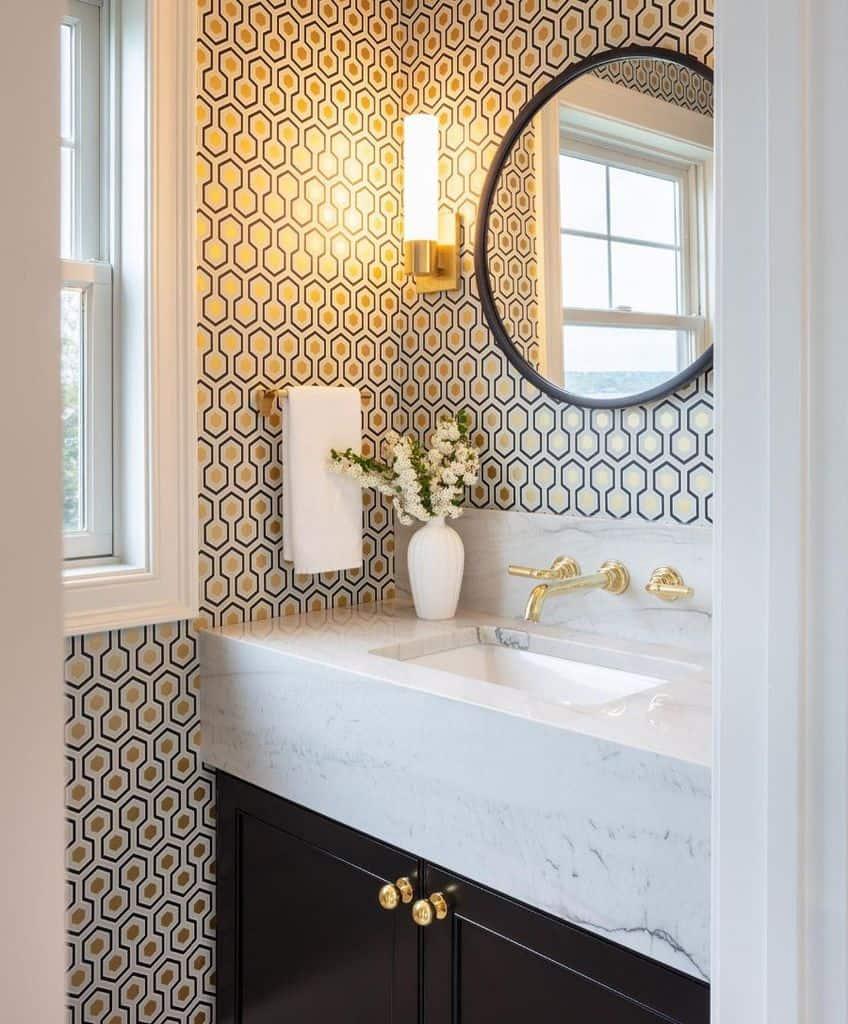 The Top 60+ Best Powder Room Ideas - Bathroom Design