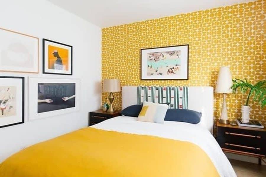 wallpaper yellow bedroom ideas gauravsinghvi_interiordesigner