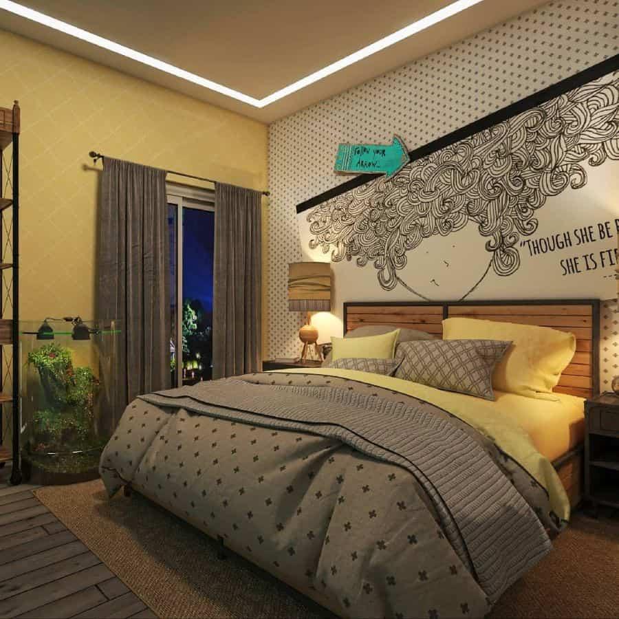wallpaper yellow bedroom ideas roxana_moludi