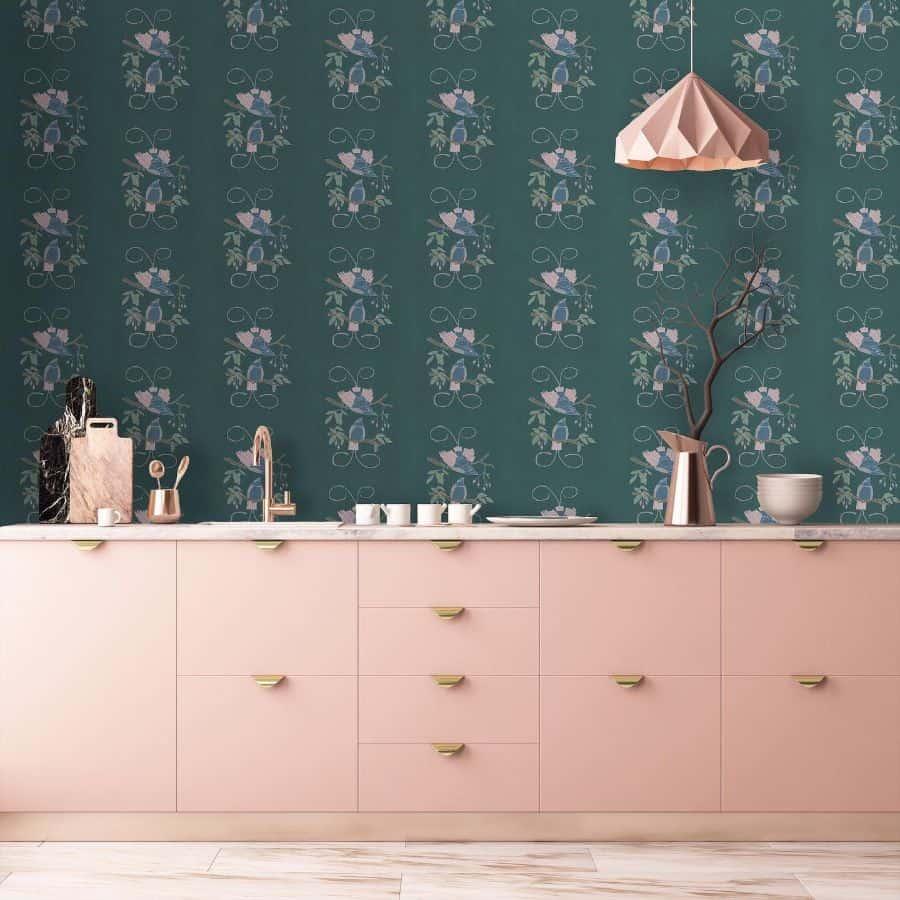 wallpapper kitchen decor ideas annikareedstudio