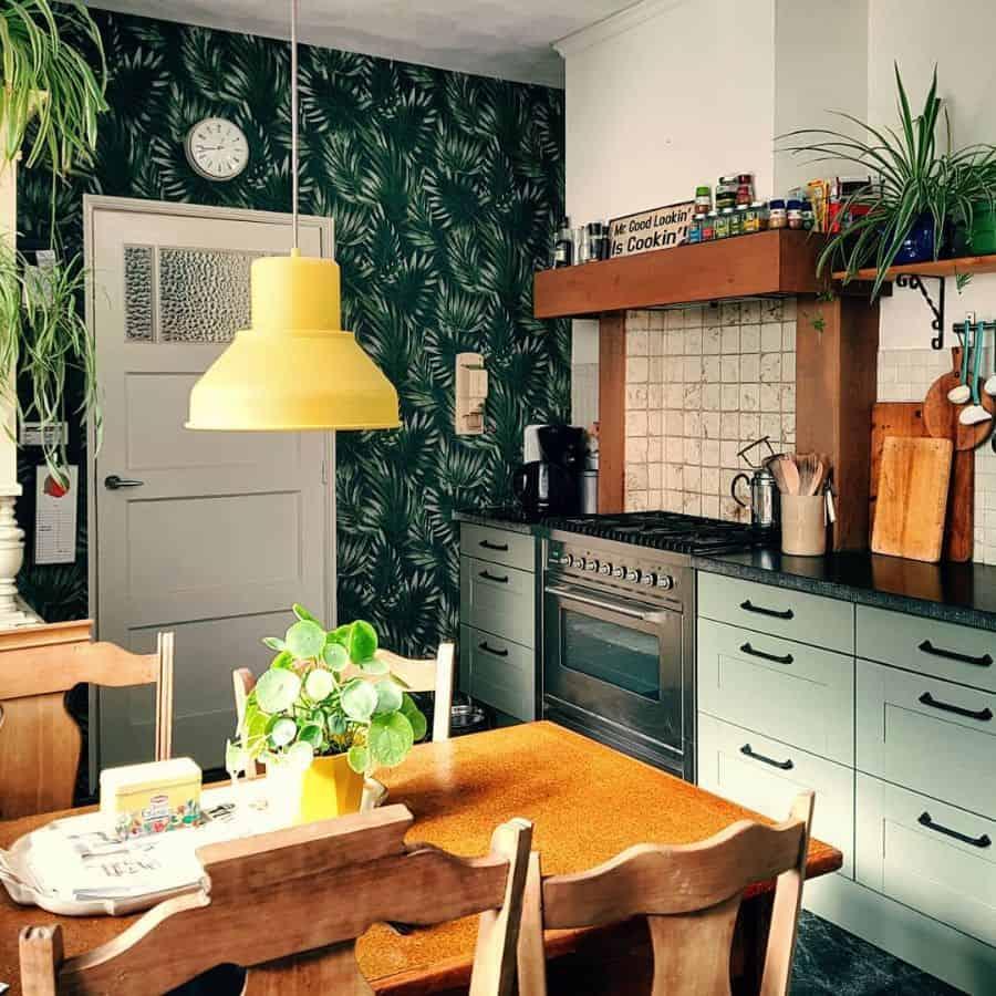 wallpapper kitchen decor ideas yellowcouchstories