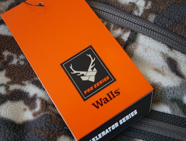 Walls Pro Series Xelerator Jacket Tag