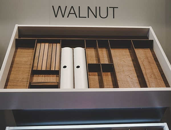 Walnut Interior Kitchen Drawer Organizers 2019 Nahb Show