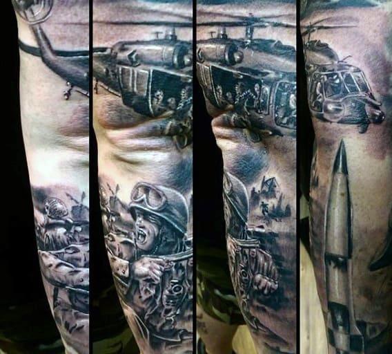 War Tattoos Men's Sleeve