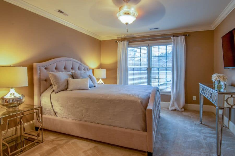 warm color palette for cozy bedroom