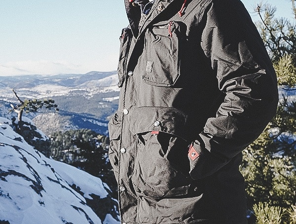 Warm Mens Topo Designs Mountain Jackets Black Field Test