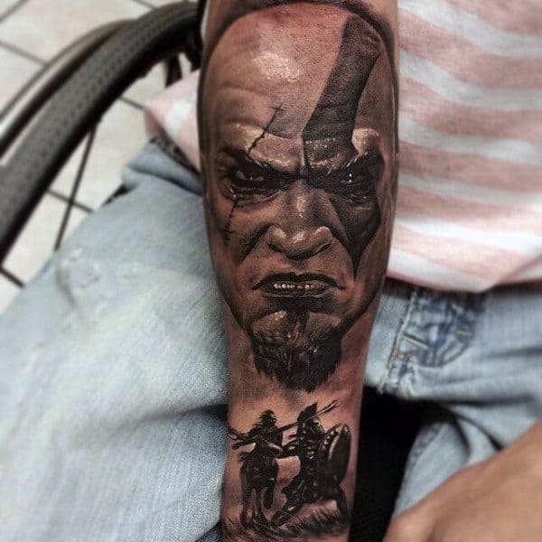 30 Kratos Tattoo Designs For Men – God Of War Ink Ideas