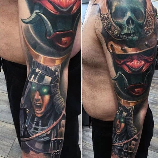 Warrior Sleeve Crazy Mens 3d Tattoo Ideas