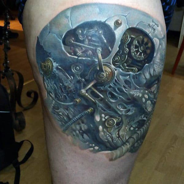 Watch Gears Insane Mechanical Male Tattoo Ideas