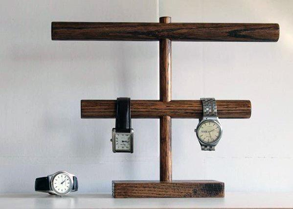 Watch Holder Made Of Wood Diy Man Cave Ideas