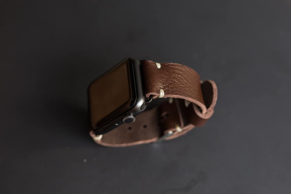 genuine leather wrist watch strap