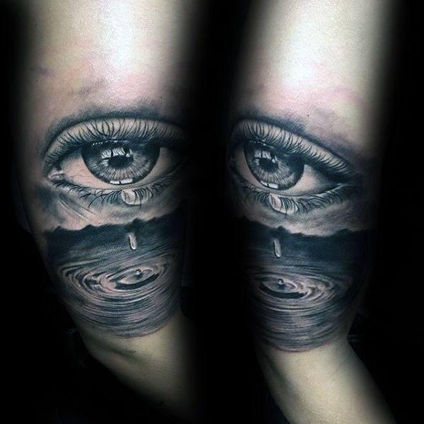 Water Drop Male Tattoos