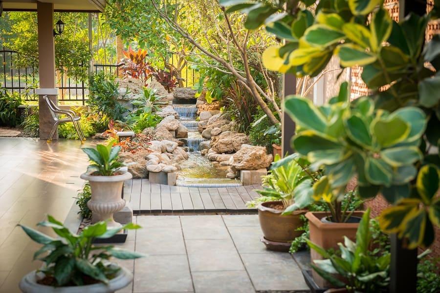 White Landscaping Rock Design Ideas For Backyard Deck