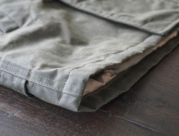 Water Repellant Waxed Cotton Hem Detail Mens Mountain Ranger Parka