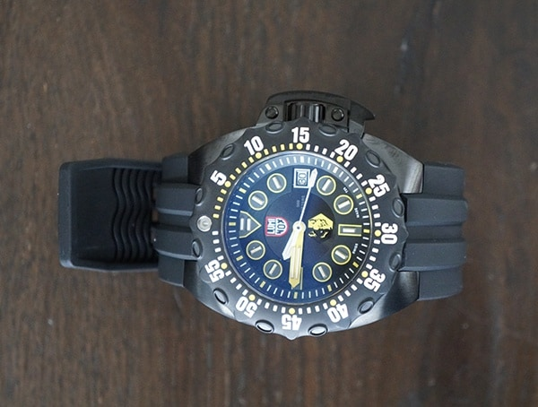 Water Resistant Mens Watches Luminox Scott Cassell Deep Dive Special Edition