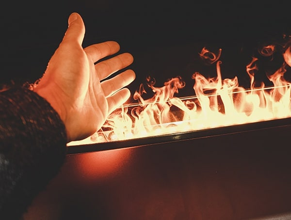 Water Vapor Fireplace Hand Nahb 2019 Show
