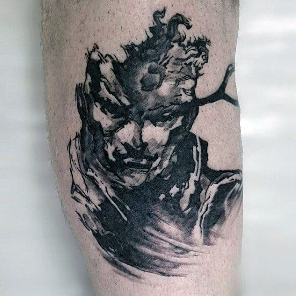 Watercolor Arm Metal Gear Guys Solid Snake Tattoo Designs