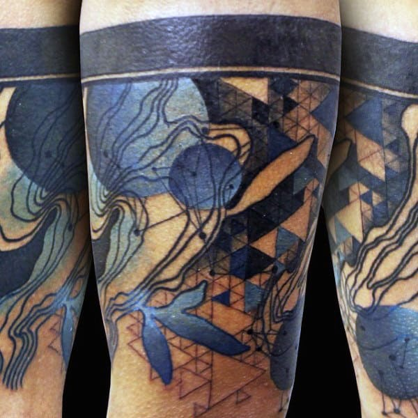 Watercolor Armband Guys Tattoo Designs
