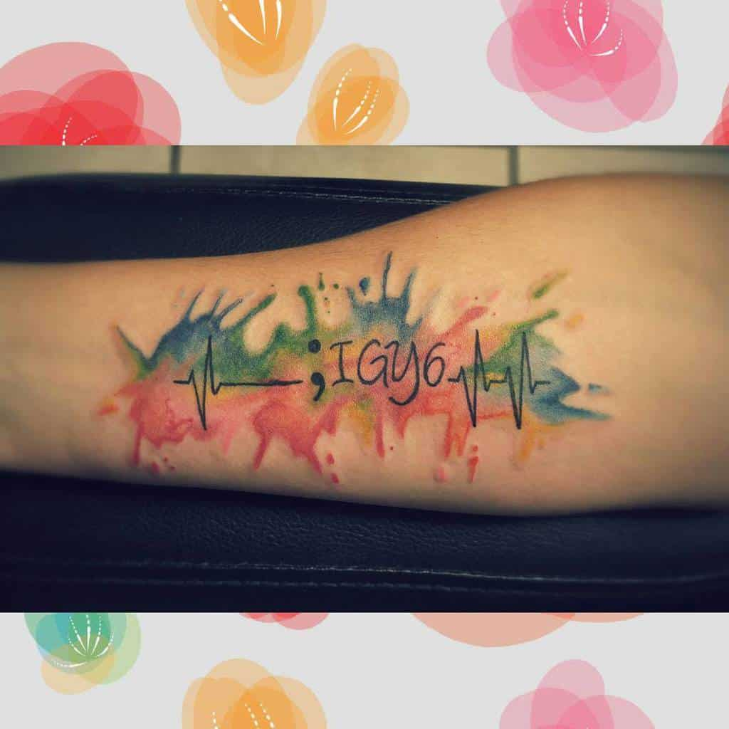 Watercolor Colored Igy6 Tattoos Luvinink
