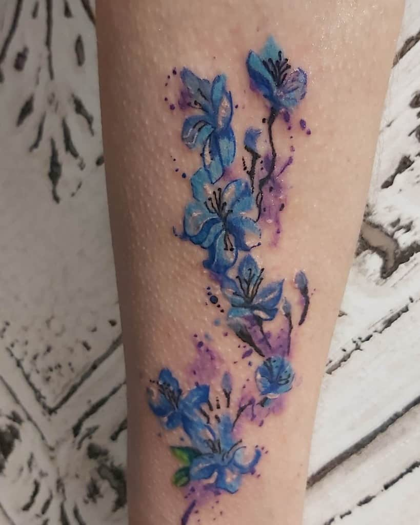 watercolor forget me not tattoos foreverinkedbeccles