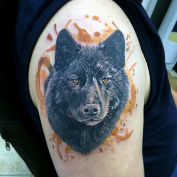Watercolor Fox Tattoo On Arms For Guys