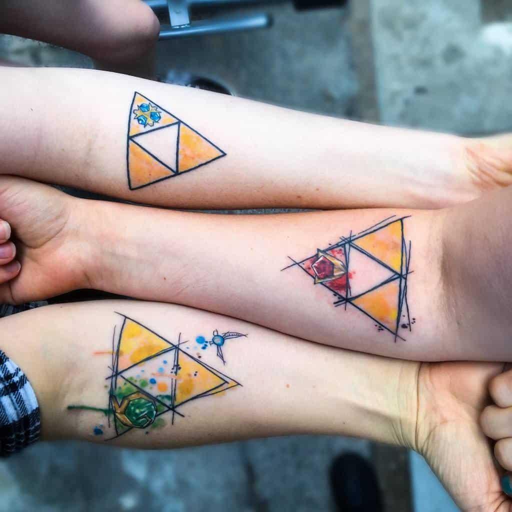 watercolor-matching-geek-gamer-trifecta-force-sister-tattoo-wrendragon