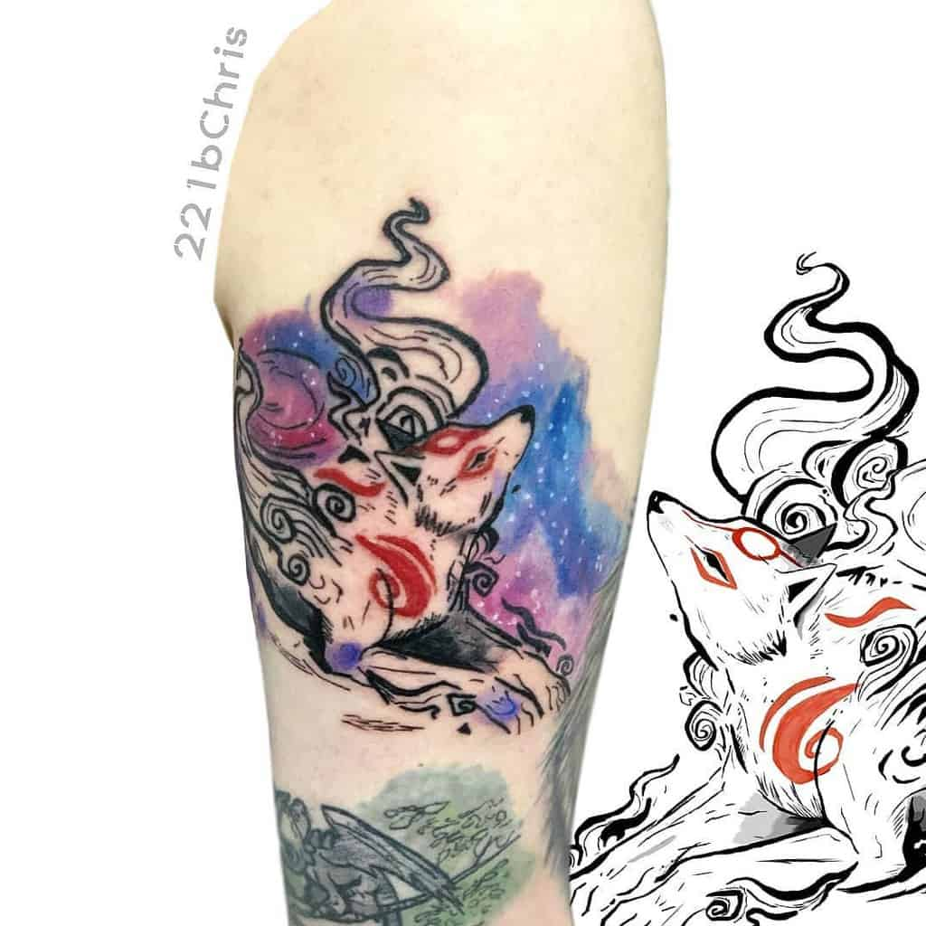 Watercolor Okami Tattoos 221bchris