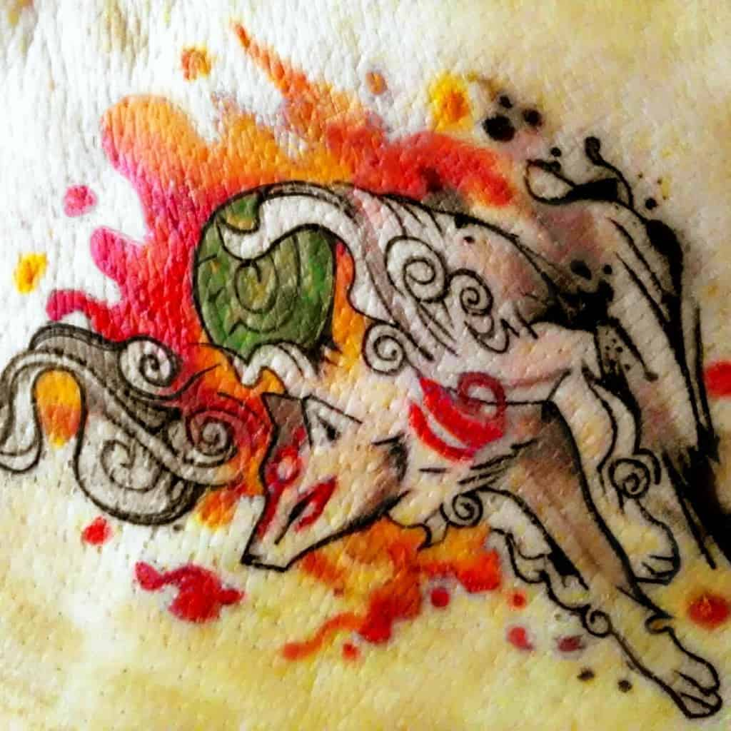 Watercolor Okami Tattoos Khanopatata