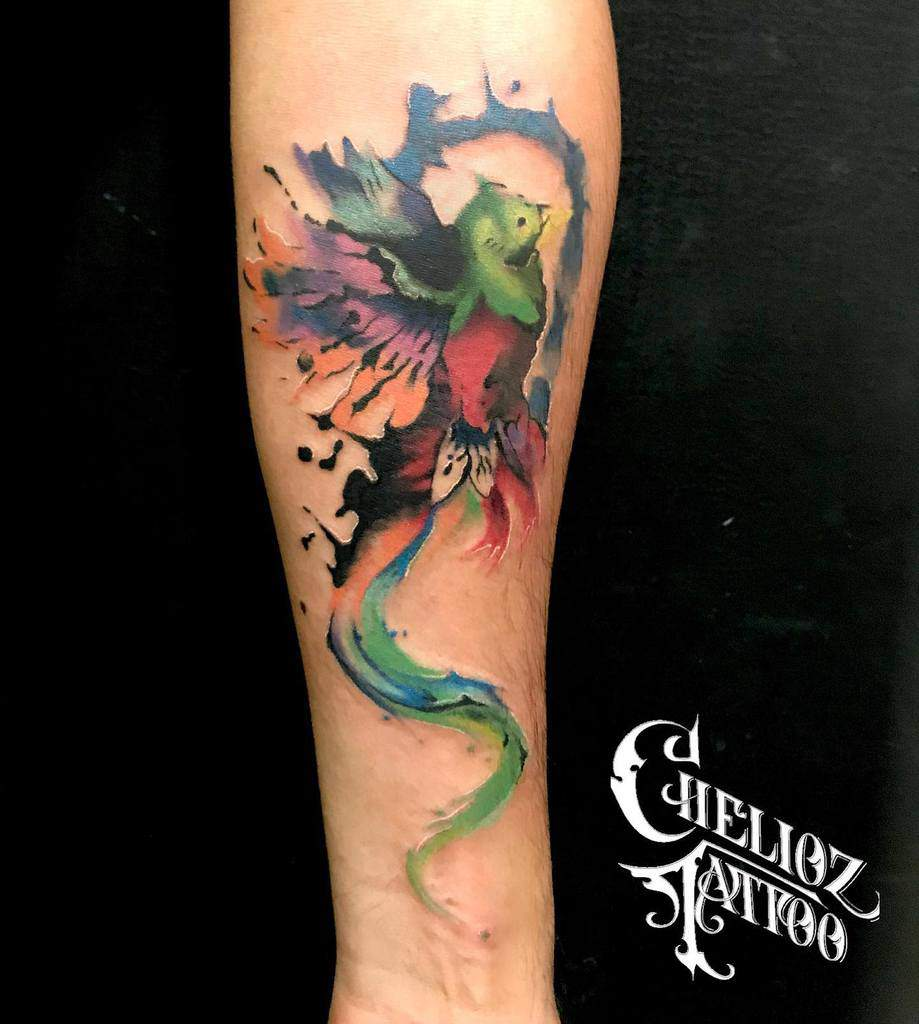 Watercolor Quetzal Tattoos Chelioz Tattoo