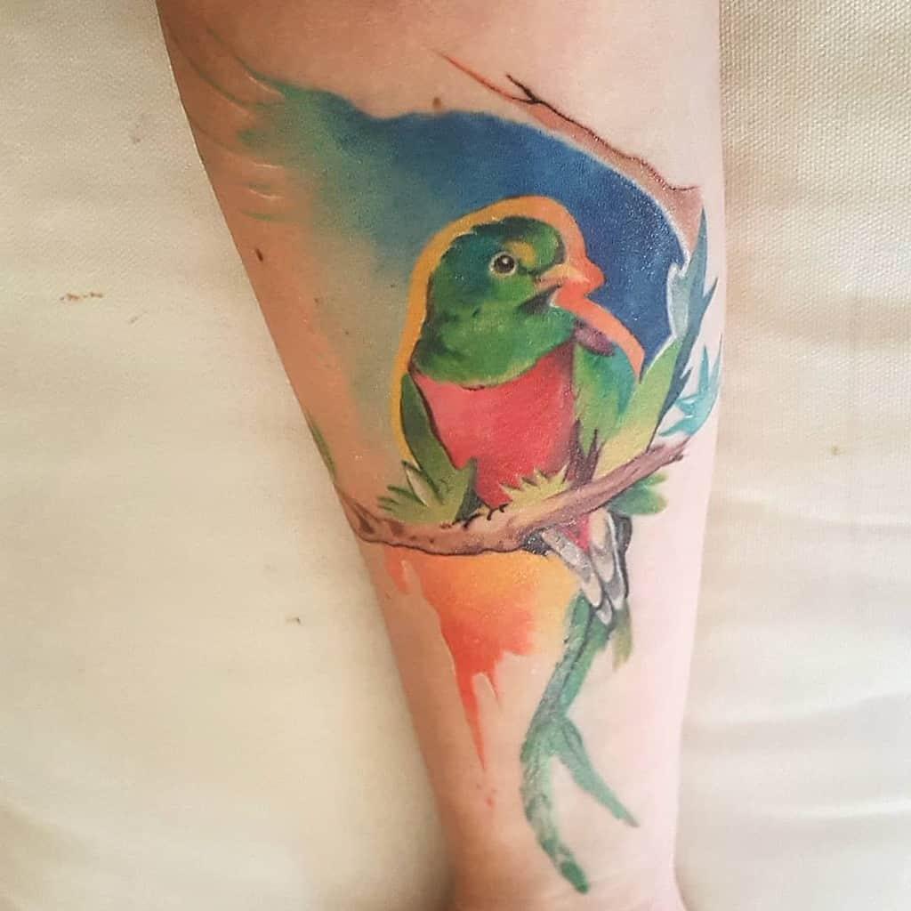 Watercolor Quetzal Tattoos Stephii2211