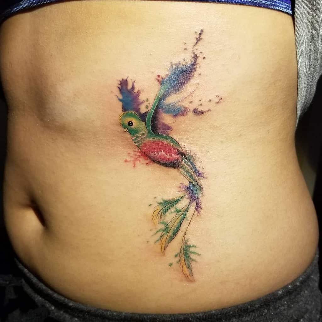 Watercolor Quetzal Tattoos Tattoolu89