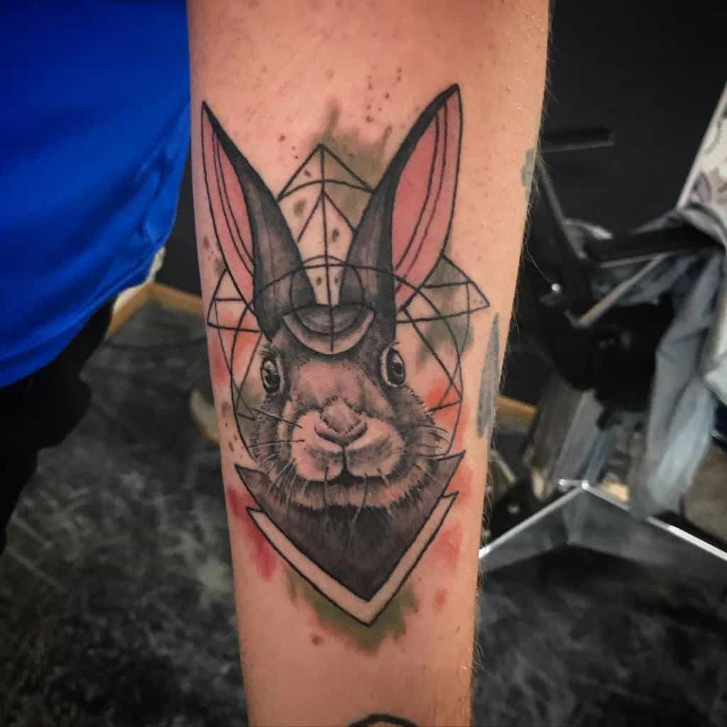 Watercolor Rabbit Tattoos Svanurtattoo