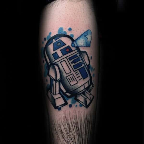 Watercolor Rd2d Mens Forearm Tattoo Designs