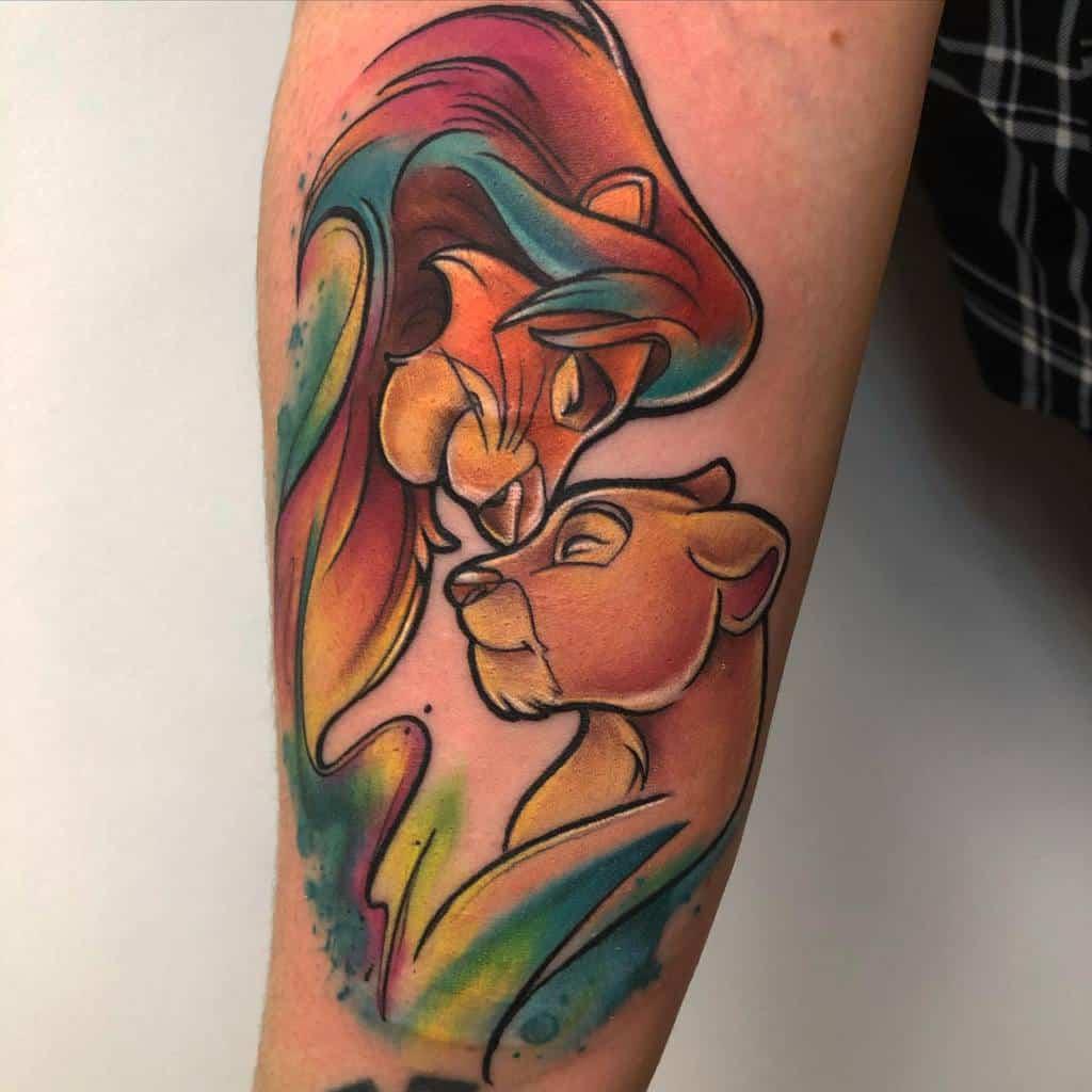 Watercolor Simba Tattoo Amtattoos66