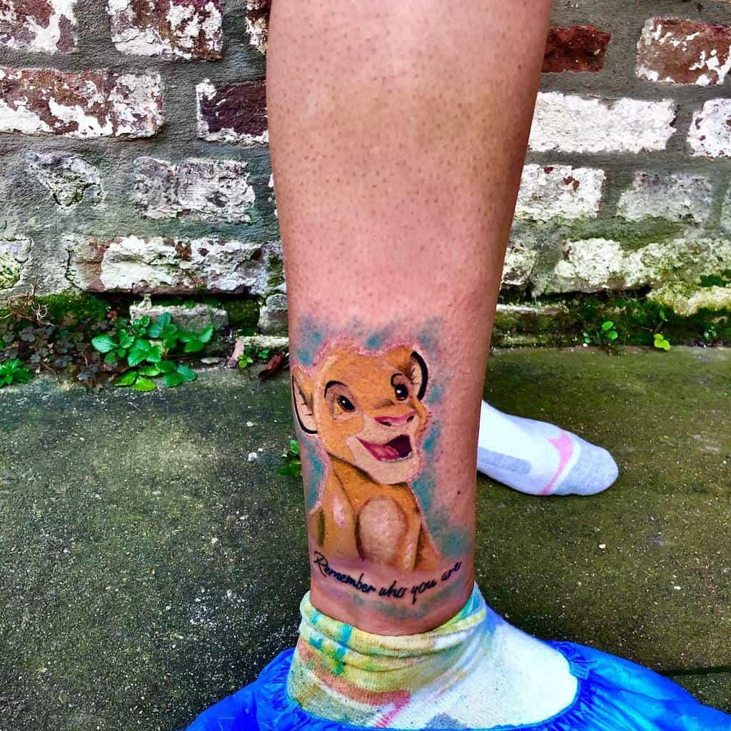 Watercolor Simba Tattoo Francesco Tattoo Artist