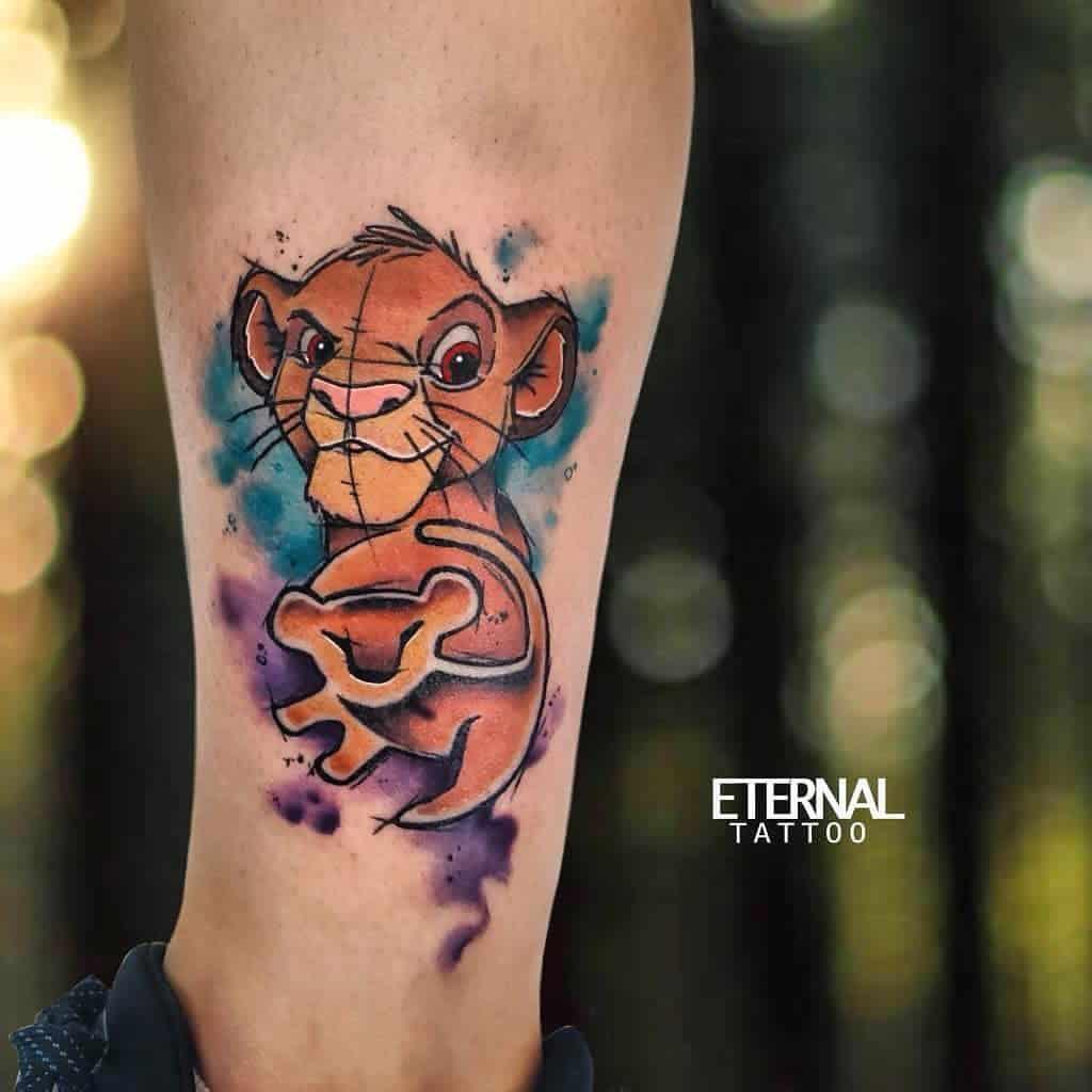 Watercolor Simba Tattoo Issaalyssaaaaa