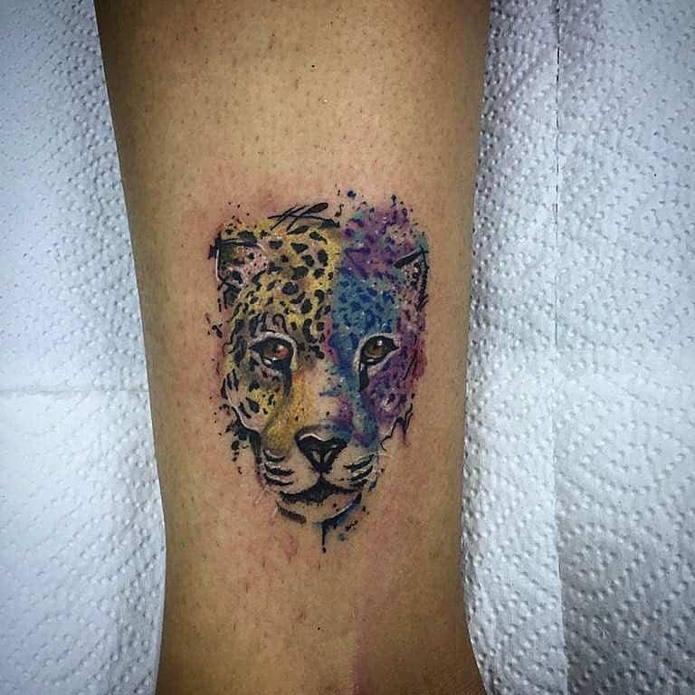 watercolor-traditional-hannya-mask-jaguar-tattoo-jotattoow