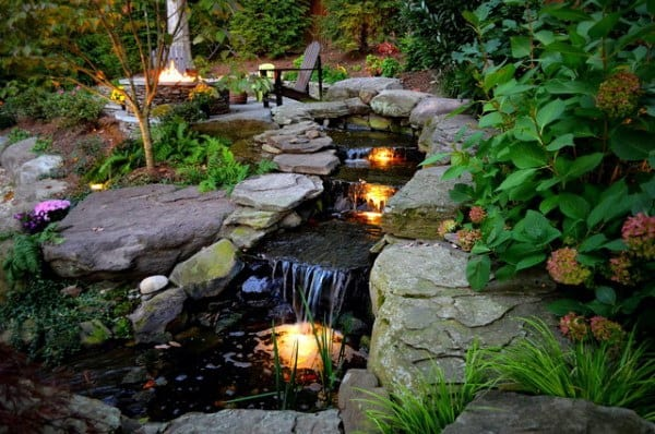 Waterfall Backyard Design - Top 70 Best Backyard Waterfalls - Water Feature Design Ideas