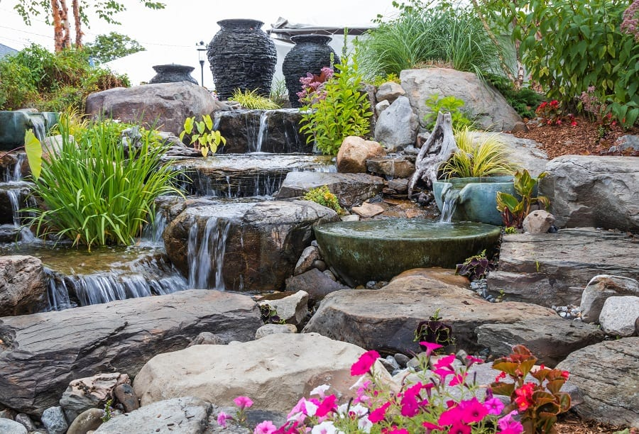 Home Exterior Rock Landscaping