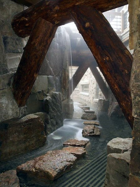 Waterfall Rocks Cool Showers Ideas