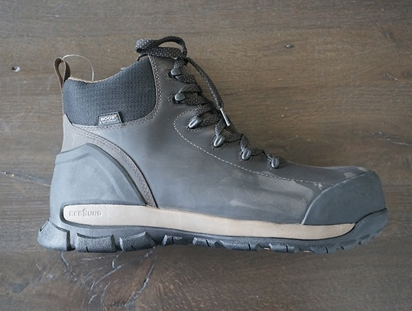 Waterproof Leather Upper Bogs Foundation Mid Leather Composite Toe Mens Boots