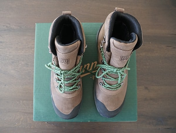 Waterproof Mens Hiking Boots Danner Crag Rat Brown Leather With Green Laces