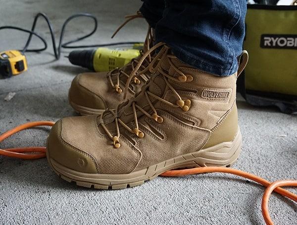 Waterproof Mens Work Boots Wolverine Contactor Lx Cm