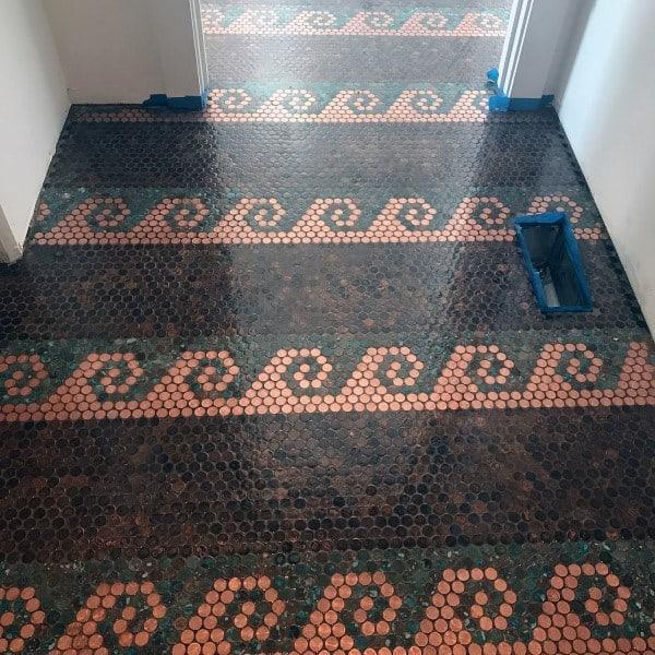 Wave Pattern Penny Floor Inspiration