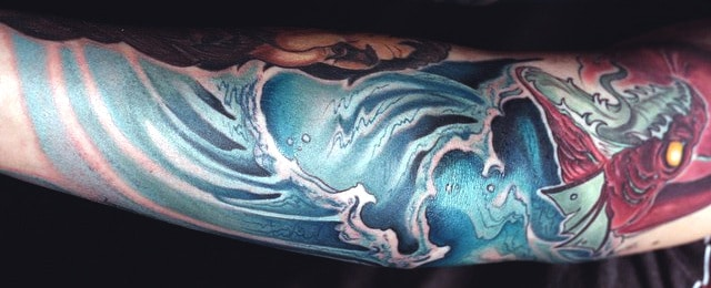 Top 60 Wave Tattoo Design Ideas – [2020 Inspiration Guide]