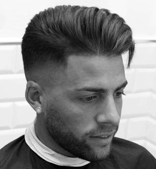 Wavy Comb Over Mens Low Fade Hair