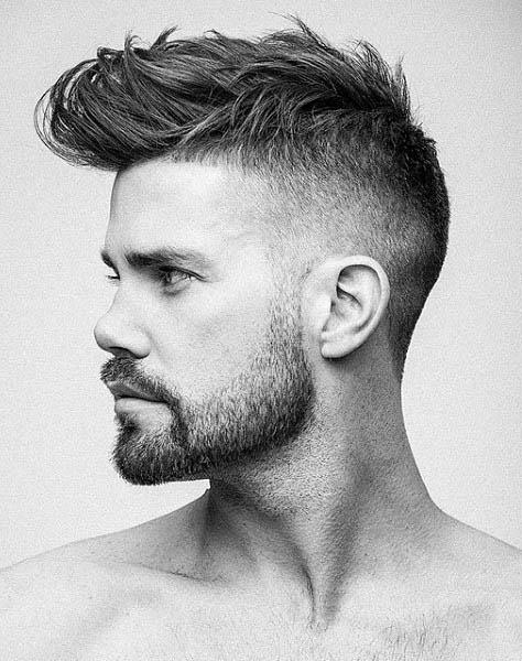 Wavy Medium Length Guys High Fade Hairstyle Ideas