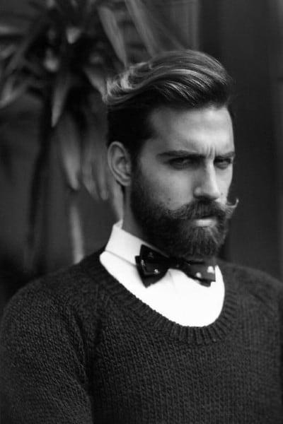Wavy Mens Classy Hairstyles With Beard